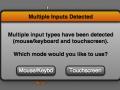 Multiple input detection