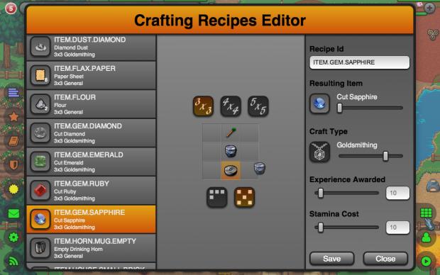 Recipe Editor Enhancements
