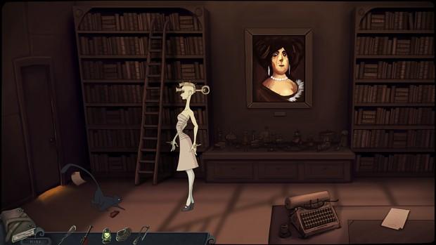 Spooky portrait on the wall