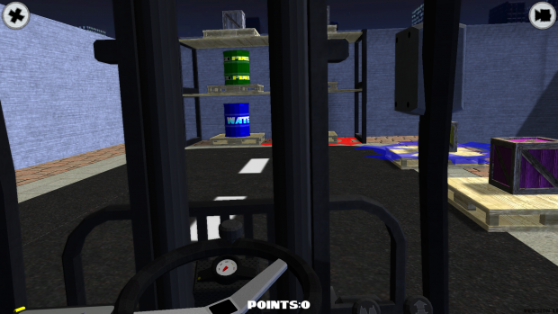 Fork Truck Challenge first person camera