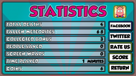 Saving statistics