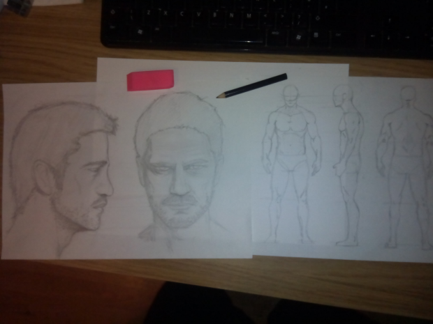 Concept Art of the main character Tom Reed.
