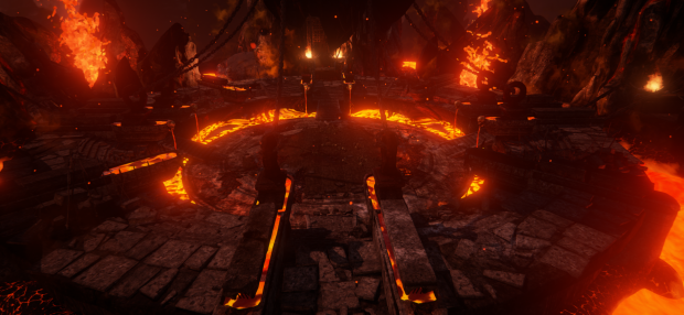 Lava coliseum in-game screenshot