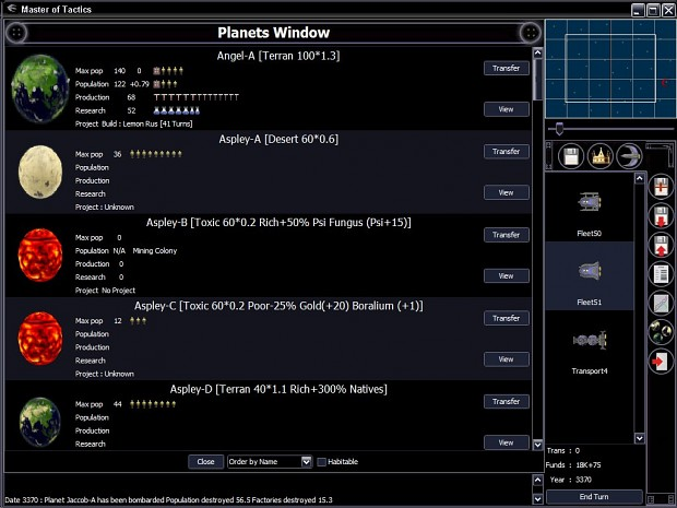 Planets Window