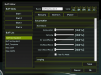 Locomotion Settings in Zygote's Buff Editor (WIP)