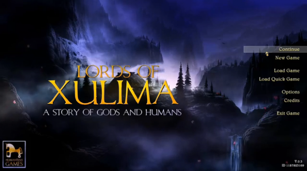 Lords of Xulima Title Screen