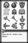 8-bit Battles items screen