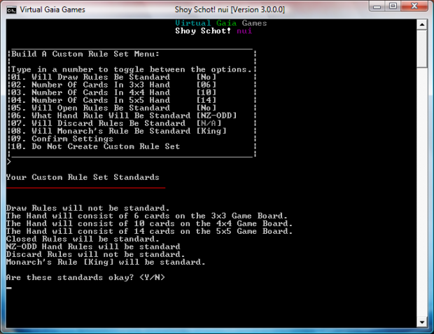 Shoy Schot! nui Release Screen V