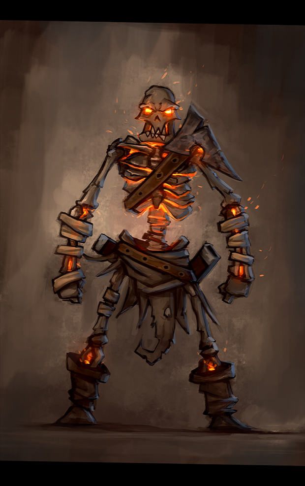 Skeleton rogue sketch