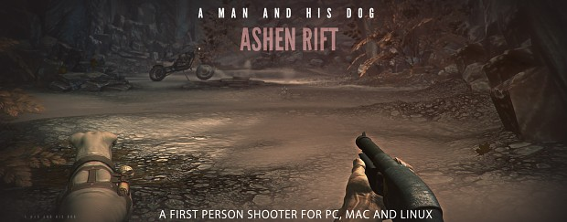 Ashen Rift: A man and his dog Promo graphic