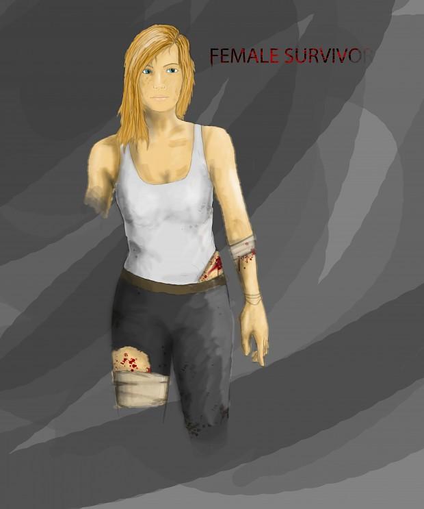 Female Survivor Concept Art