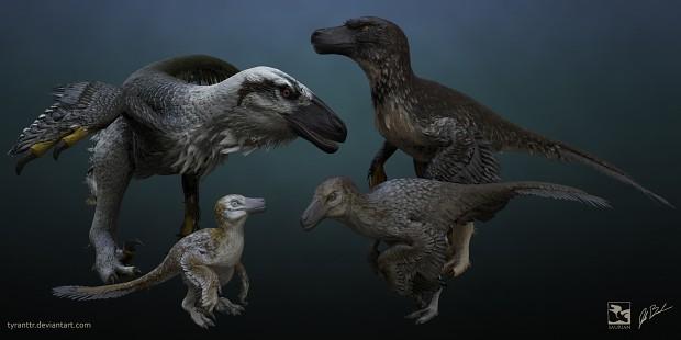 Dakotaraptor ontogeny render