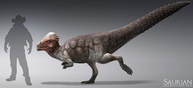 Pachycephalosaurus render