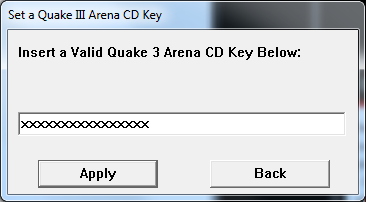Copy & paste ability for Quake 3 registration key