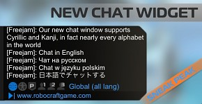 New Friends system and Chat Widget in Robocraft