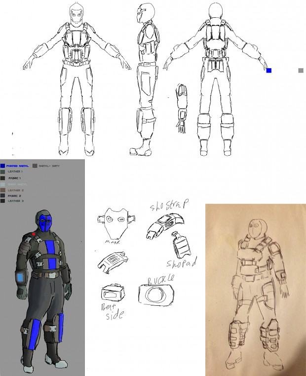 Bluecell soldier concept