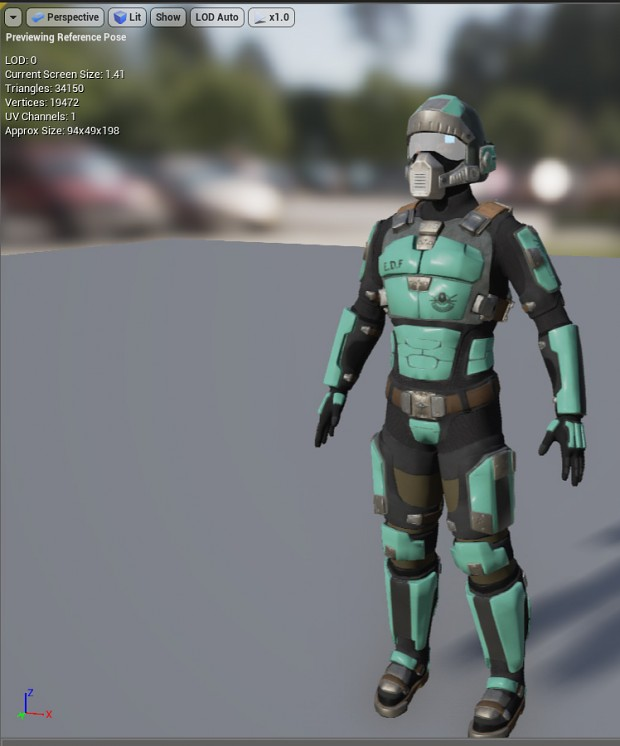 E.D.F Soldier in Viewport