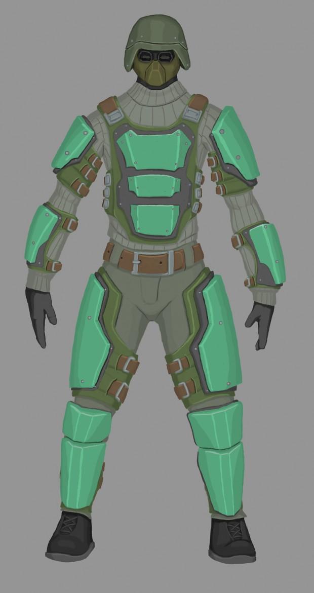 Militia Mercenary Concept  art