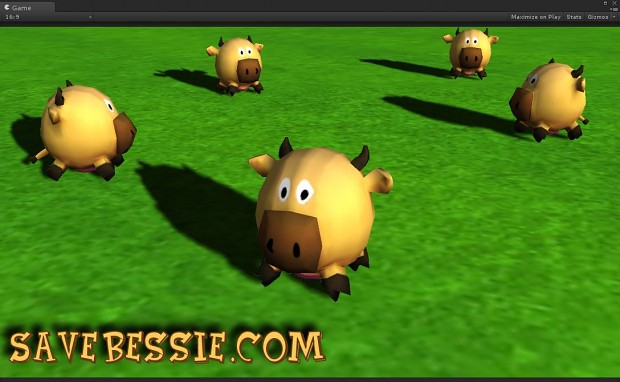 The new cow game asset for gameplay use
