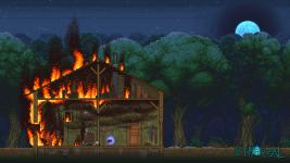 Cabin Fire Wallpaper 1920x1080