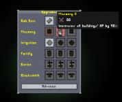 Upgrades' panel