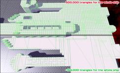 Mesh optimisation to support huge ships