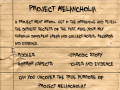 Project Melancholia Series