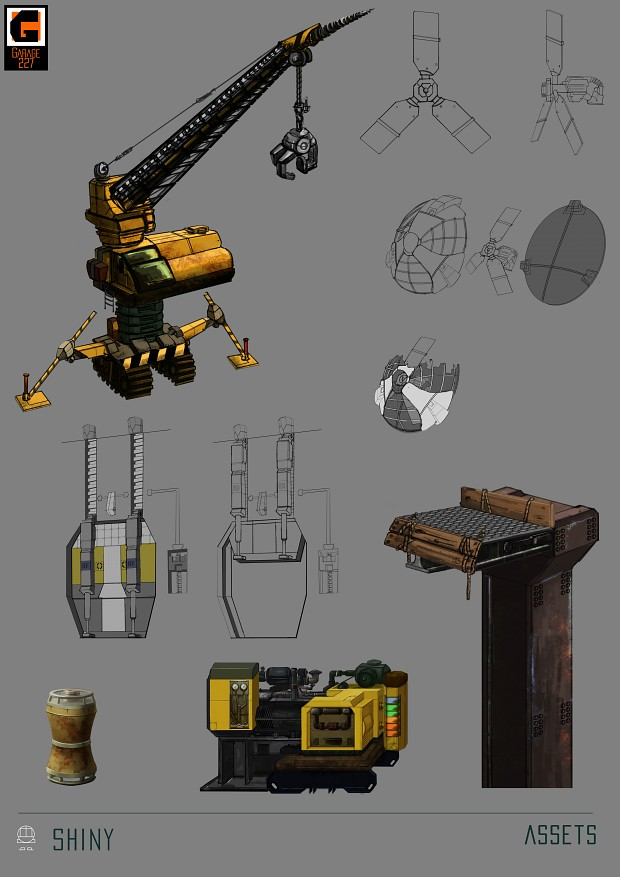 Concept for Game assets