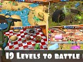 19 levels to battle in