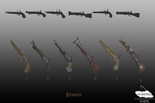 Concept Art: Pistols