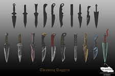 Concept Art: Throwing Daggers