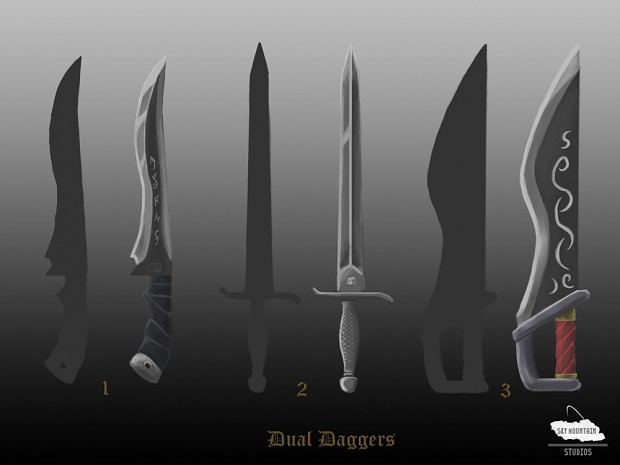Concept Art: Updated Dual Knives