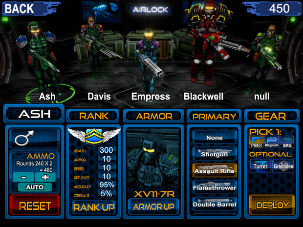 Loadout Screen DONE! image - Dereliction 2009 - Mod DB