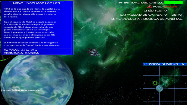 The main gameplay screen