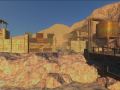 Crater's town buildings