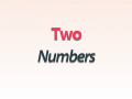 TwoNumbers
