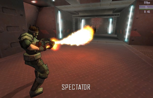 Flamethrower with Bloom effects