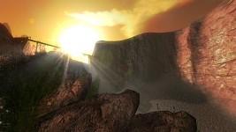 Terrain and sun.