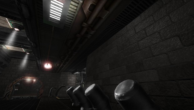 Specular lighting on map surfaces.
