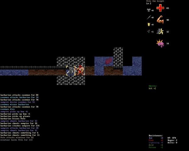 Knight vs minotaur