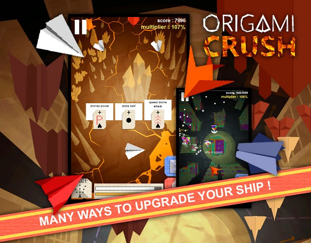 Origami Crush screen shots