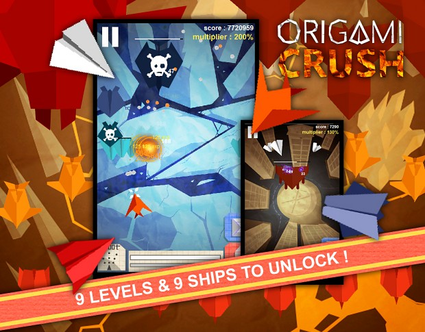 Origami Crush screen shots