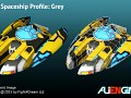 Spaceship Grey Front