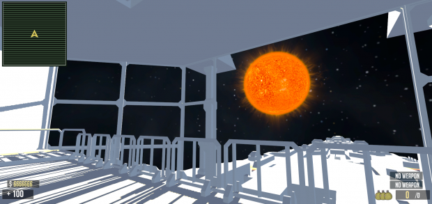Sun view from placeholder destiny