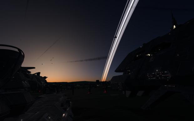Sunset across the battlefield
