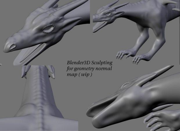 Wip sculpt of dragon
