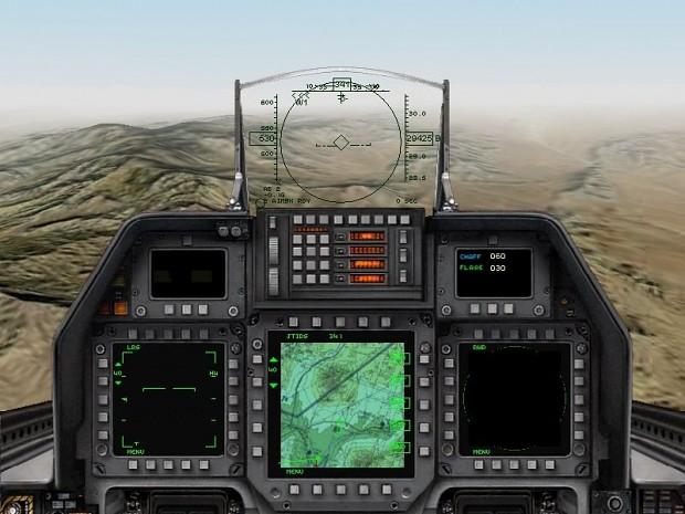 F-22A Raptor cockpit view (2D variant)