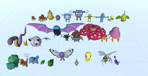 First 30 monsters of the first mod