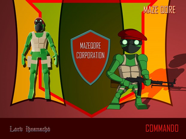 Maze Qore Characters - The Commando