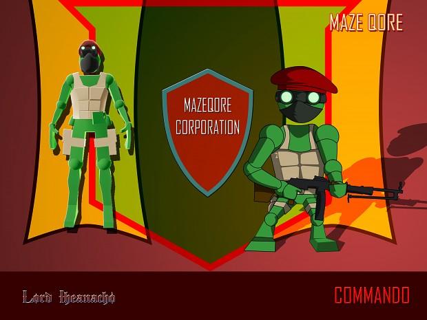 Maze Qore Characters - The Commando